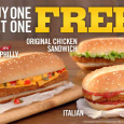 According to the Burger King website their Buy One Get One Deal on their Chicken Sandwich is still on. Not sure when it expires…