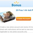 Get started with a new account at Walmart's online photo center and you will get 25 FREE 4 x6 prints. If you choose to pick up in store than you […]