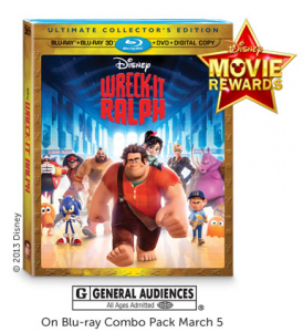 Wreck it Ralph DVD Coupon