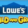 Lowe's Build and Grow program for kids is offering a FREE clinic on March 8 where they will be building birdhouses. Every kids receives a free kit, apron, hammer, goggles […]