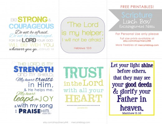 scripture lunch box notes